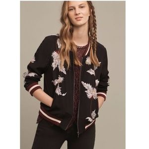 Anthropologie EMBROIDERED SOLSTICE BOMBER new